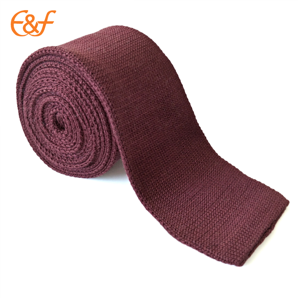 Men's Solid Tie Knit Knitted Tie Plain Skinny Woven Necktie