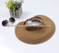Ladies knit straw hat/straw sun visor/ straw knitted hat for women(SA8000, BSCI, ICTI factory)