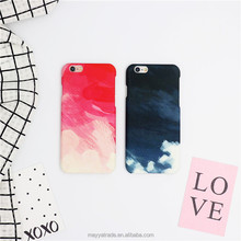 Smooth Premium Durable Hard PC oil painting Changing Color case Protective Hard PC Case for iPhone 7
