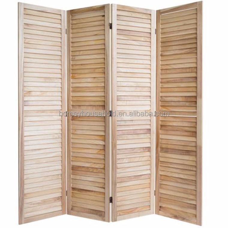 Home Decor Nature Wood Folding Screen ,Wooden Room Divider For Hosptial