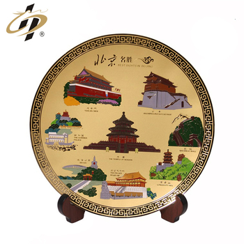 Factory making decorative custom brass etching logo metal plate souvenir plaque