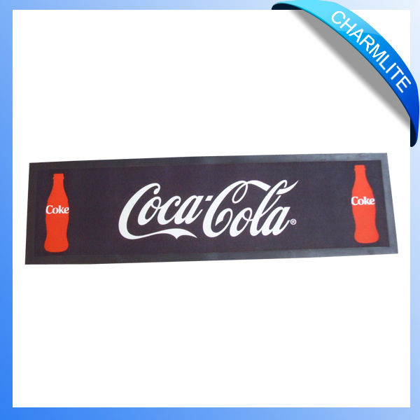 customize printing pvc bar mat/drink rail mat