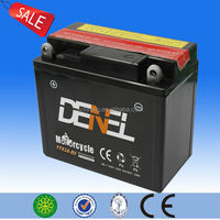 2014 all kinds of battery Maintenance Free Motorcycle Battery dry charged battery of electric scooter moto parts with low price