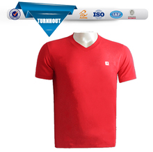 Red V-collar custom t-shirts no minimum tshirt