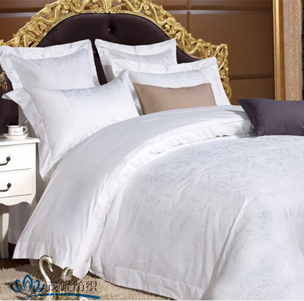 100% cotton/Polyester/Polycotton Sheraton hotel commercial bed linen