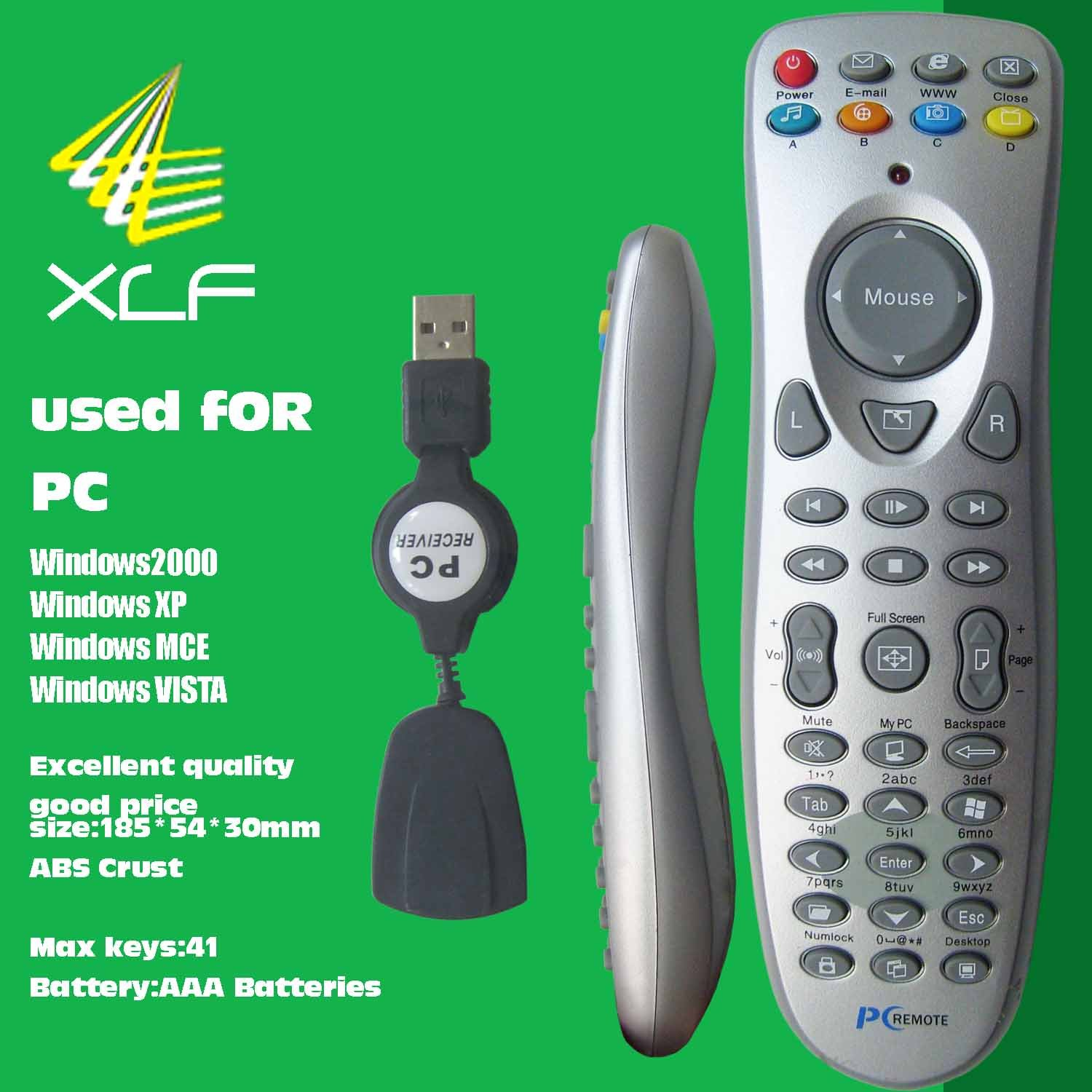 One for all remote codes computer game usb controller usb pc remote control for computers