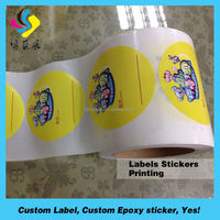 cheap waterproof labels stickers printing colorful perfume label sticker
