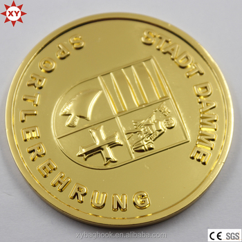 Metal Fake Gold Plated Tungsten Coin for Sale