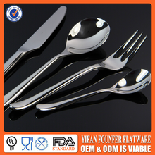 Logo Printting stainless steel silverware set airline flatware