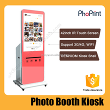 Buy A Photo Booth Machine For Smart Phone High Qualtiy Photo Paper Printing Vend Kiosk