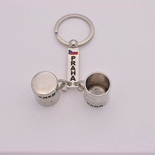 Double happiness glasses keychain customized