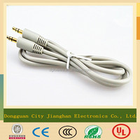 China manufacturer gray 3.5mm jack male to male audio cable