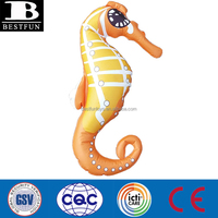 promotioal customized eco-friendly pvc inflatable seahorse vinyl plastic decorative seahorse custom made sea animal inflatables