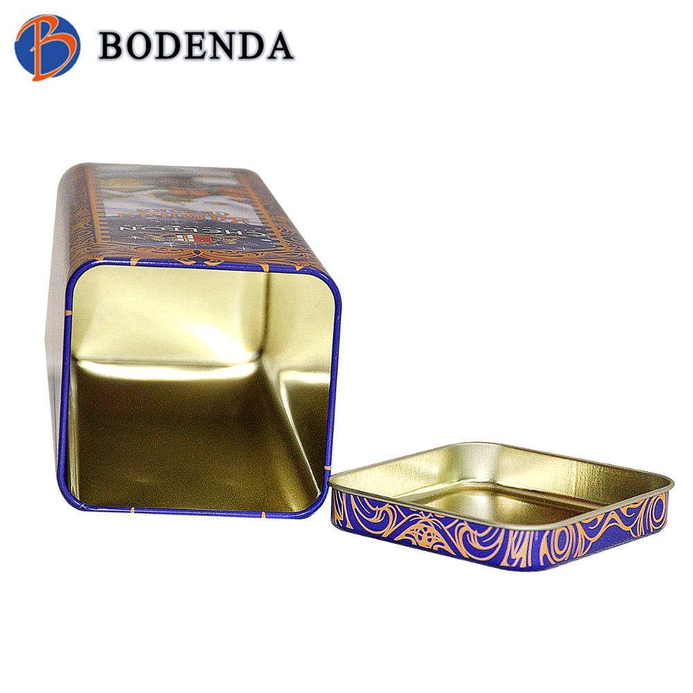 Promotional food grade metal tea tin container