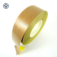 Ptfe Coated Glass Fabric With Yellow Release Paper