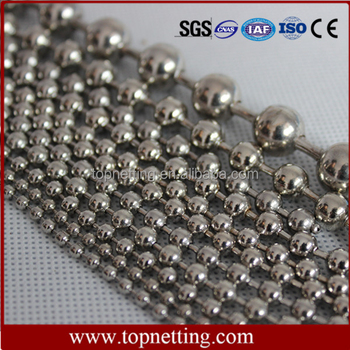 Stainless steel metal beaded chain curtain