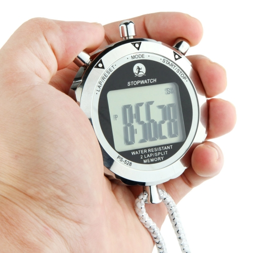 Digital Metal round Stopwatch Chronograph Sports countdown switch <strong>Timer</strong> with Strap