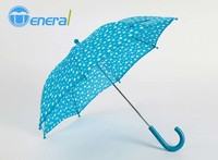 beautiful white dot & pink color custom print logo straight child umbrella