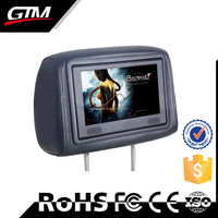 9 inch Touch Screen Headrest DVD Player Taxi Cab Indoor Advertising Monitor Ttaxi Headrest Digital Signage LCD Media Player