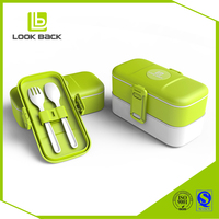 Lock lids Containers Storage Plastic Boxes Fresh Food Pack Lunch