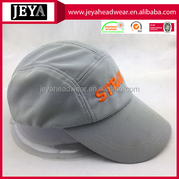 100% polyester sport cap Outdoor Running Caps with Breathable Sweatband
