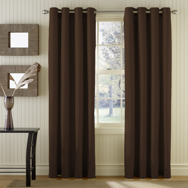 Simple eyelet hotel blackout fabric curtain