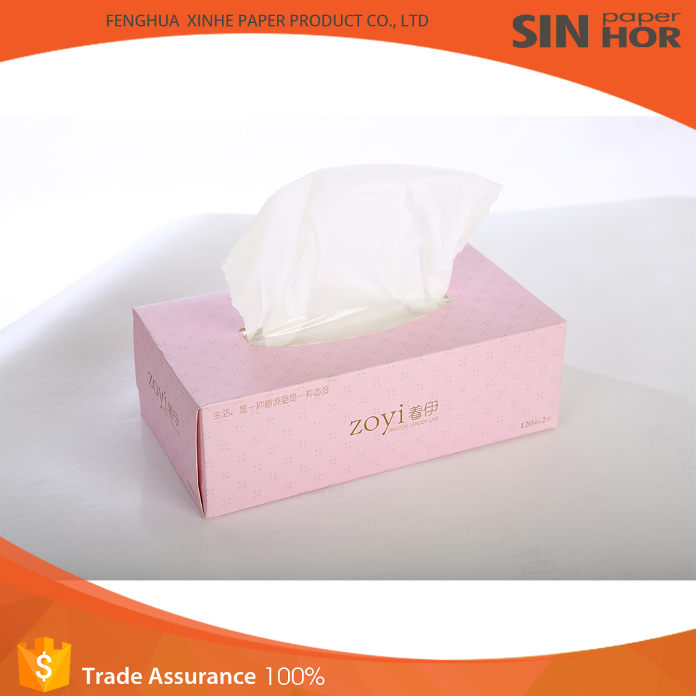 Brands names box out natural tissue paper toilet made in China