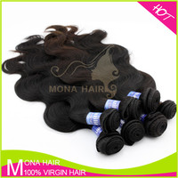 Full cuticle double weft wholesale grey human hair weaving