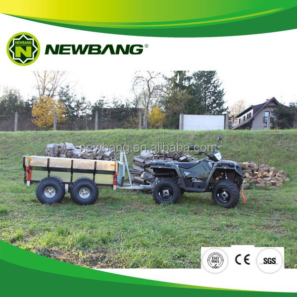 quad bike log trailer