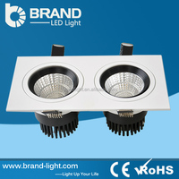Energy Saving Aluminum Body 2x6w Ceiling Recessed 155x75mm Downlight