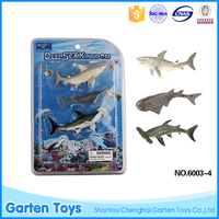 Wholesale deap ocean fish model cartoon zoo animal toys for kids