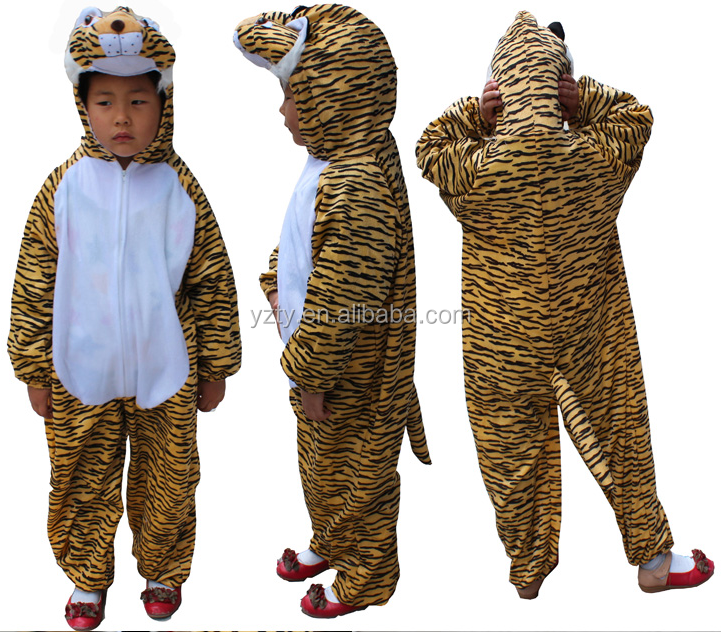 lovely animal shaped tiger mascot costumes for kids