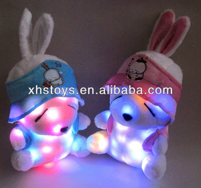Cute LED Light Up Stuffed Animal Plush Night Light Toys