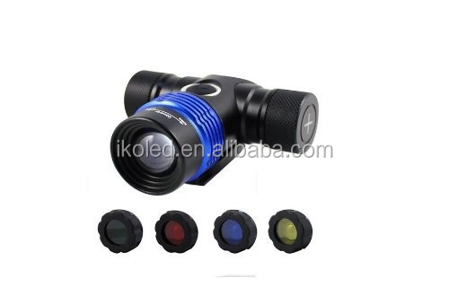 Zoomable 1800 Lumens XM-L T6 3 Modes 4 Colors Bright Adjustable Base <strong>Headlamp</strong> Headlight Bicycle Light Torch Flashlight