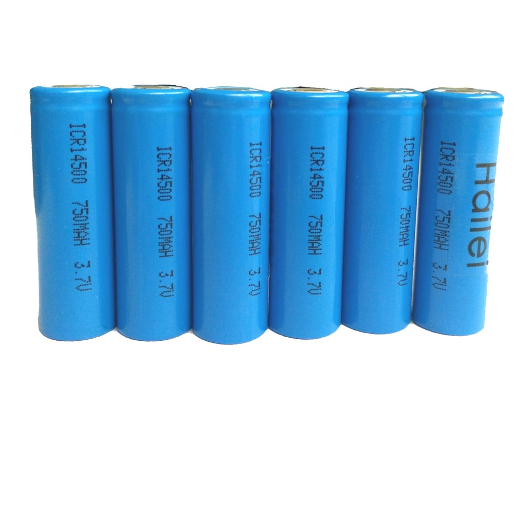 Wholesale price li-ion battery 3.7v 750mah AA 14500 battery for PDA