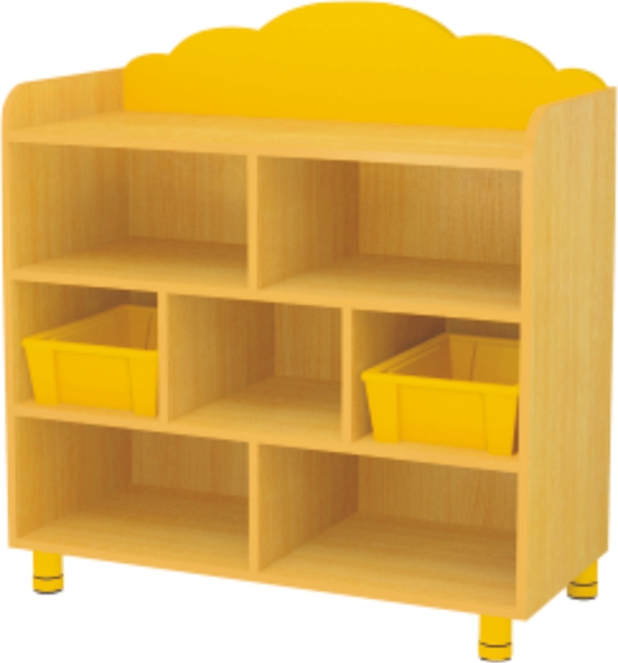 Kids Furniture 7 Compartments Wooden Multi Storage Cabinet
