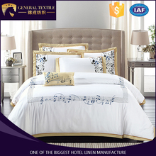 Good-Looking Embroidery Note Design Bed Linen Sets Flat Sheet