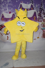 HI high quality CE/ASTM funny yellow star shape mascot costume