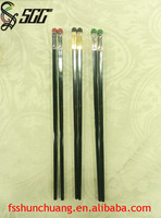 Gold Plated/Silver Plated Stainless Steel Chopsticks with Black Agate Bead