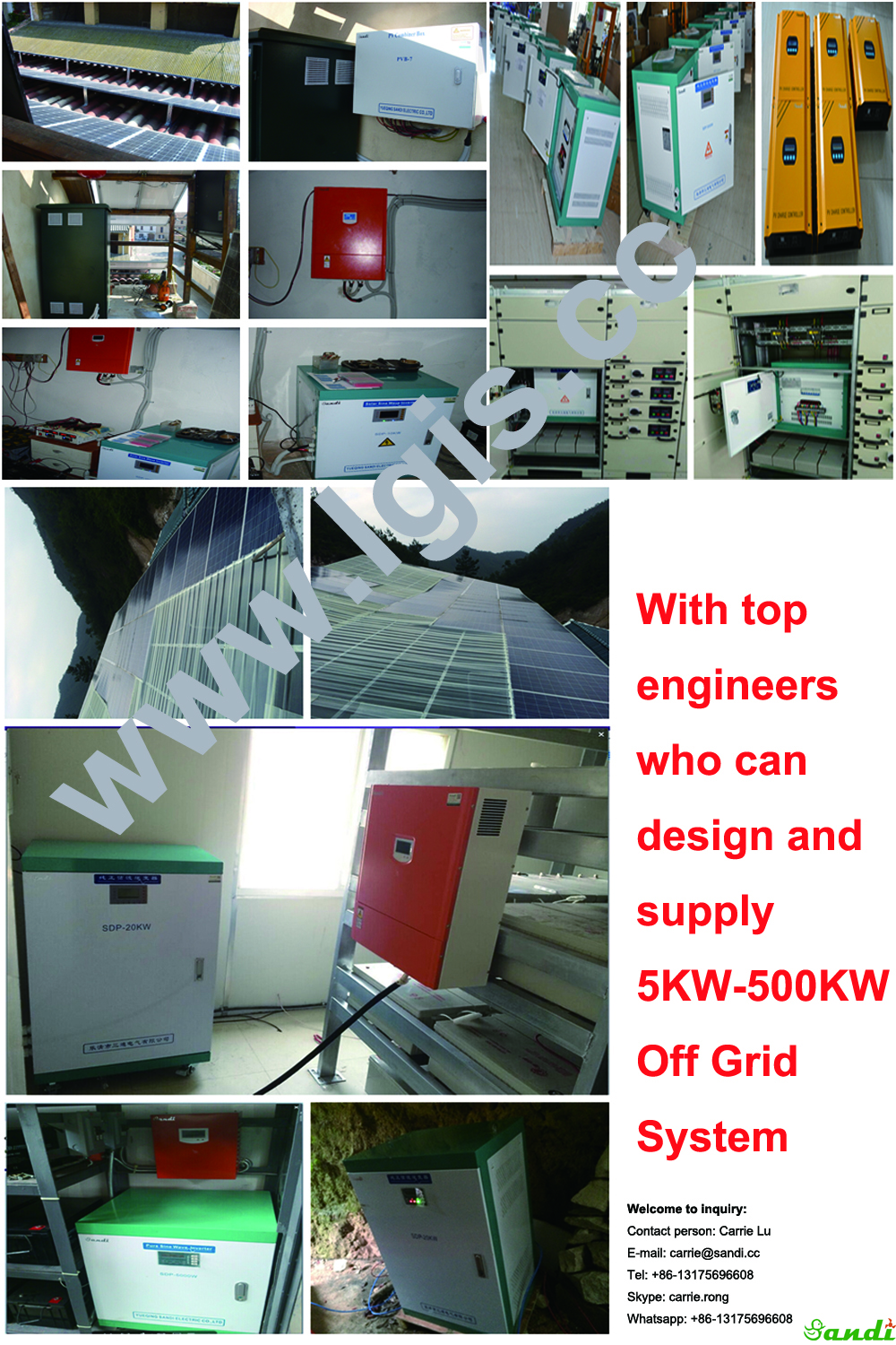 30/40/50Kva 3 phase off grid inverter