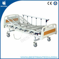 China BT-AE203 Hospital electric home care bed, patient adjustable bed with mesh board, wheels