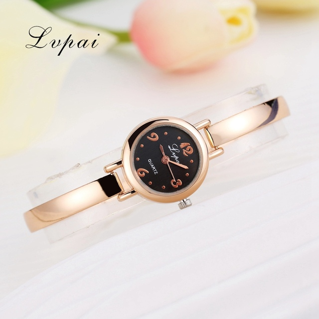 Lvpai 2016 Top Brand Luxury Watch Women Dress Bracelet Watch Fashion Crystal Quartz Wristwatch Classic Gold Ladies Casual Watch