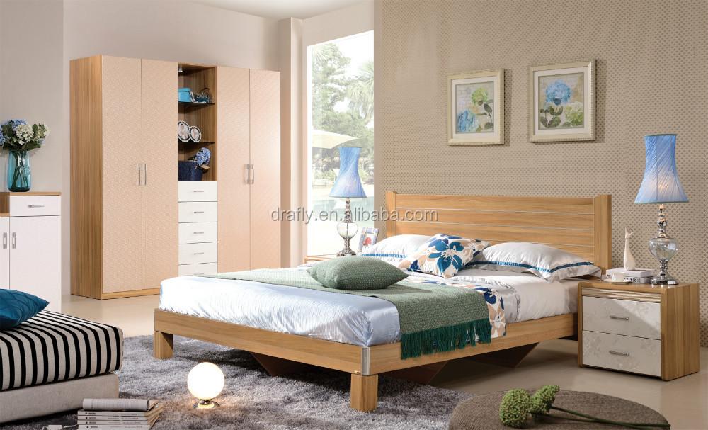 Nuevo Diseno Moderno Nogal Muebles De Dormitorio Conjunto De - Dormitorio-diseo-moderno