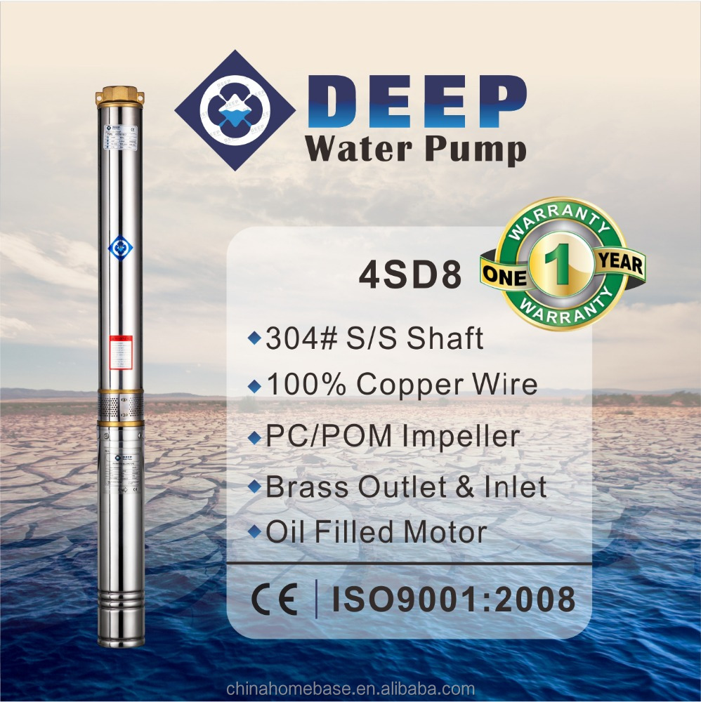 4SD8 series Hot-sale 100% copper agriculture irrigation submersible pumps