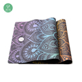 Foldable muslim prayer mat patterned yoga mat eco friendly natural rubber material