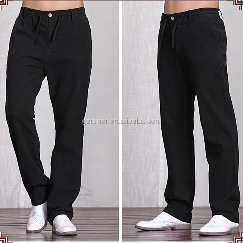 Guangzhou Wholesale 100% Linen casual man pants