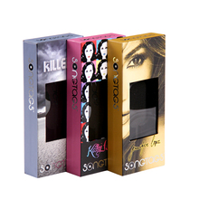 Alibaba factory color printing cosmetic slide out gift packaging box