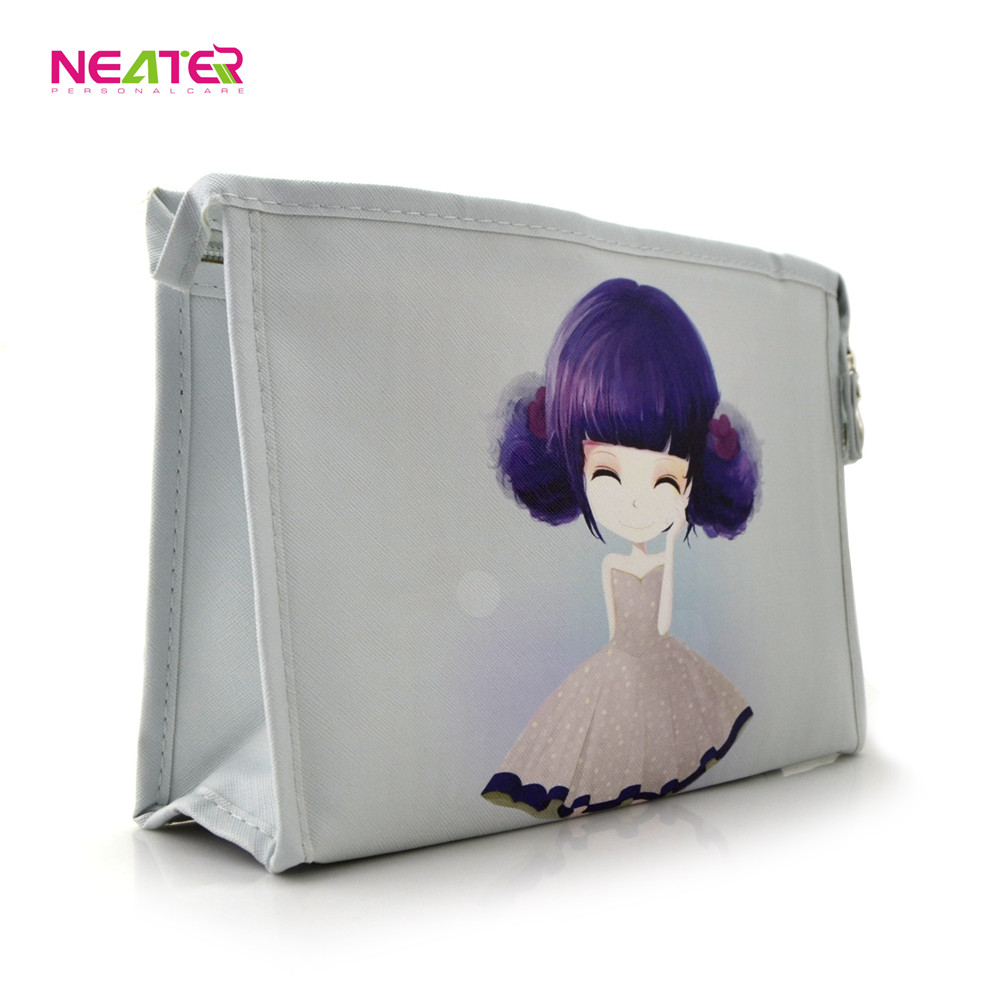 High quality small cute design handy canvas cosmetic bag