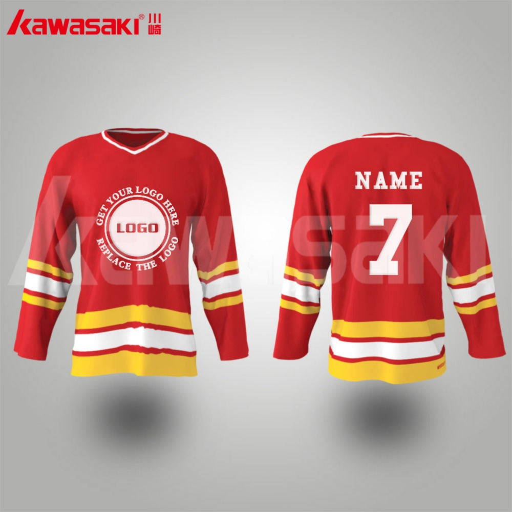 China gold manufacturer special ice hockey custom team jersey