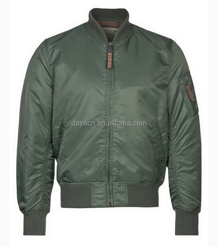 Custom made hot sale man nylon bomber jacket wholesale